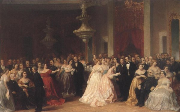 The Republican Court In The Days Of Lincoln 1867 | Peter Frederick Rothermel | oil painting