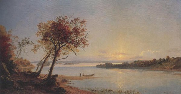 Autumn Landscape On The Hudson River 1876 | Jasper Francis Cropsey | oil painting