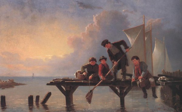 Boys Crabbing 1855 | William Tylee Ranney | oil painting