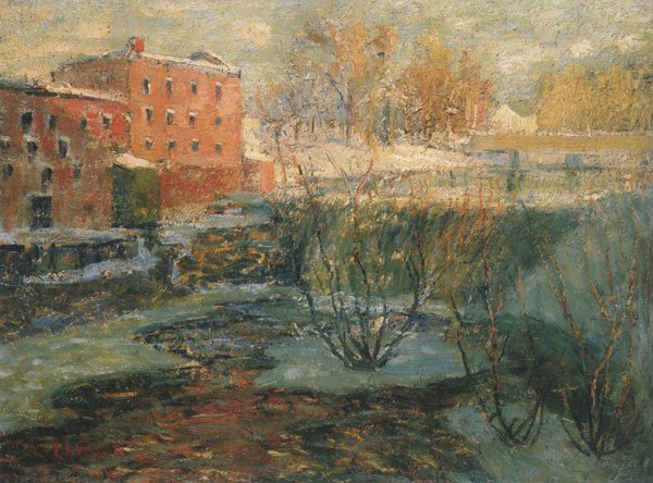 The Red Mill 1904 | Ernest Lawson | oil painting