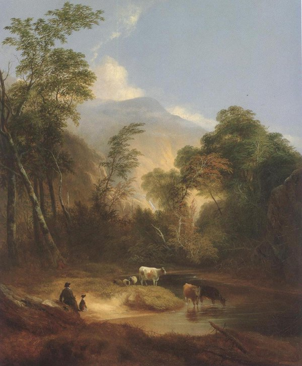 Pastoral Landscape 1854 | Alvan Fisher | oil painting