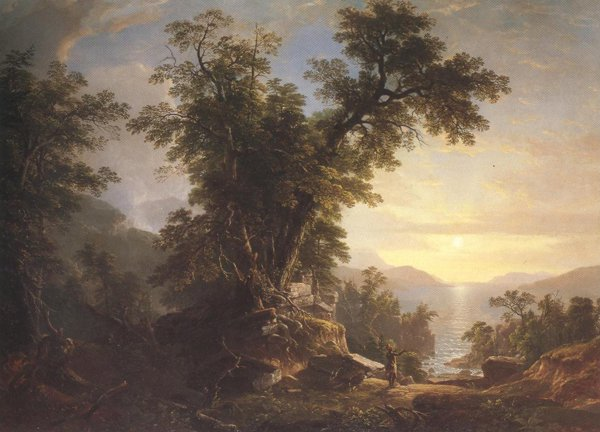 The Indian's Vespers 1847   Asher Brown Durand   oil painting