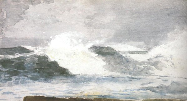 Surf At Prout's Neck 1895 | Winslow Homer | oil painting