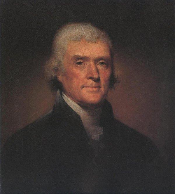 Thomas Jefferson 1800   Rembrandt Peale   oil painting