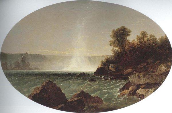 Niagara Falls 1852 54   John Frederick Kensett   oil painting