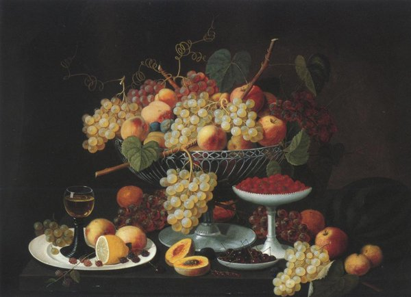 Still Life With Fruit 1850 | Severin Roesen | oil painting