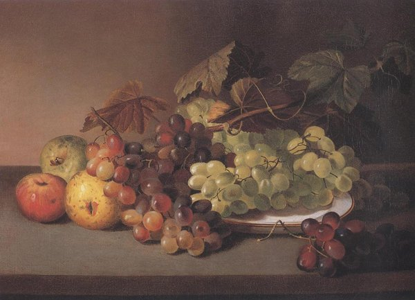 Grapes And Apples 1825 31 | James Peale | oil painting