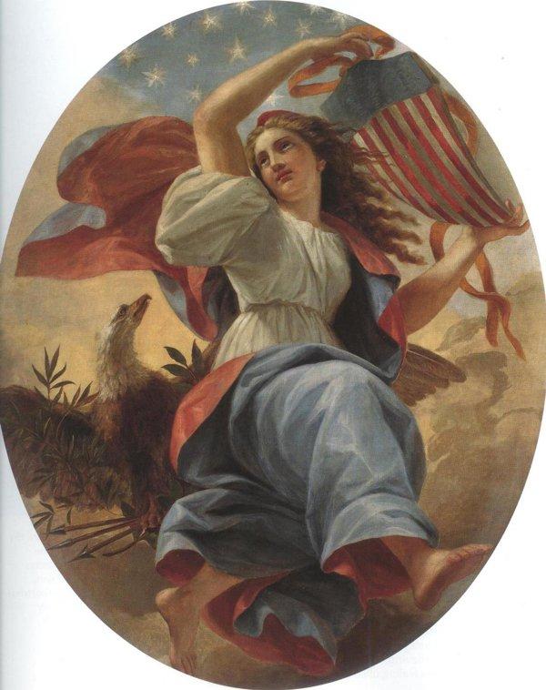 Union 1869   Constantino Brumidi   oil painting