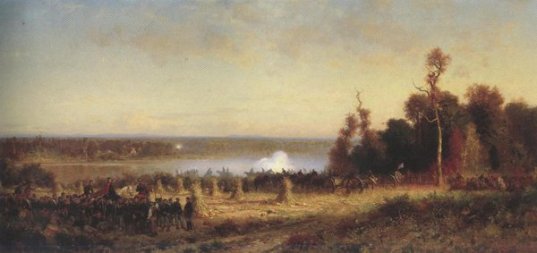 Cannonading On The Potomac October 1861 1868 70 | Alfred Wordsworth Thompson | oil painting