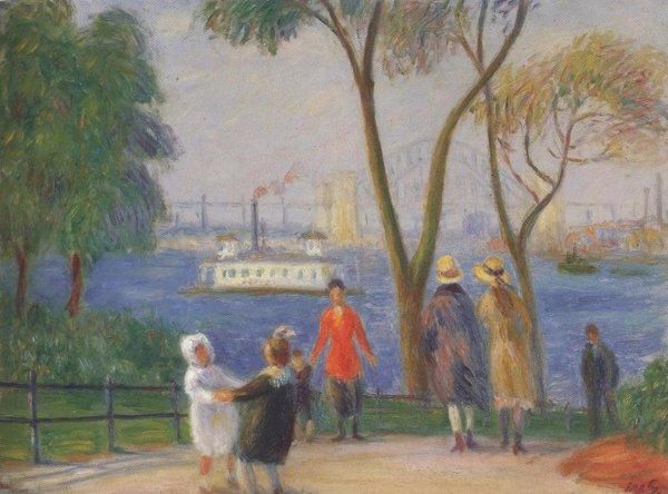 Carl Schurz Park New York 1922 | William Glackens | oil painting