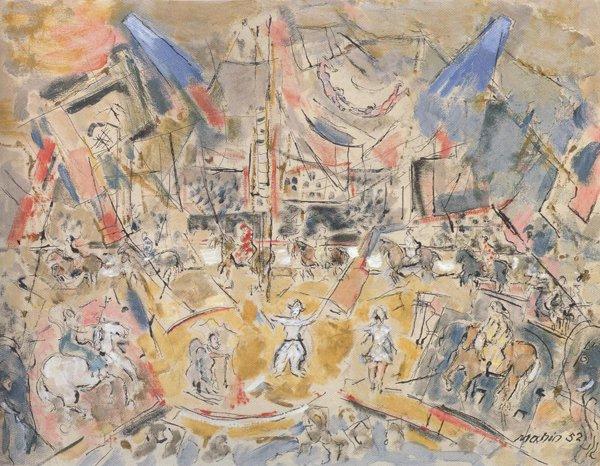 The Circus No.1 1952   John Marin   oil painting