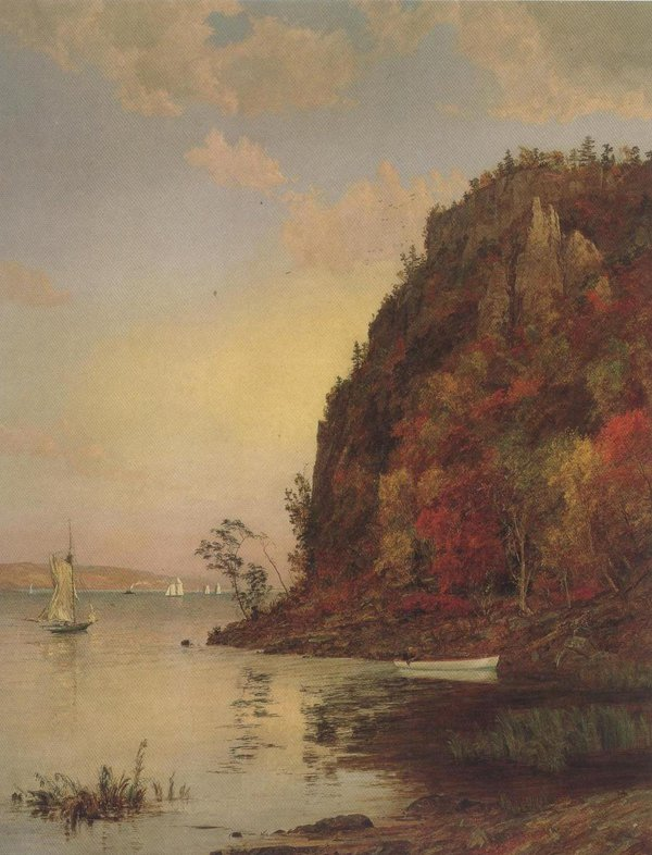 Under The Palisades In October 1895 | Jasper Francis Croosey | oil painting