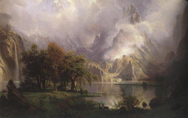 Rocky Mountain Landscape 1870 | Albert Bierstadt | oil painting