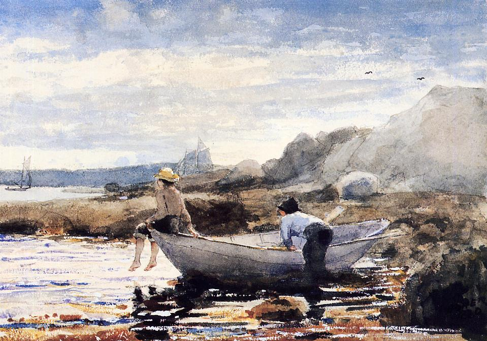 Boys in a Dory | Winslow Homer | oil painting