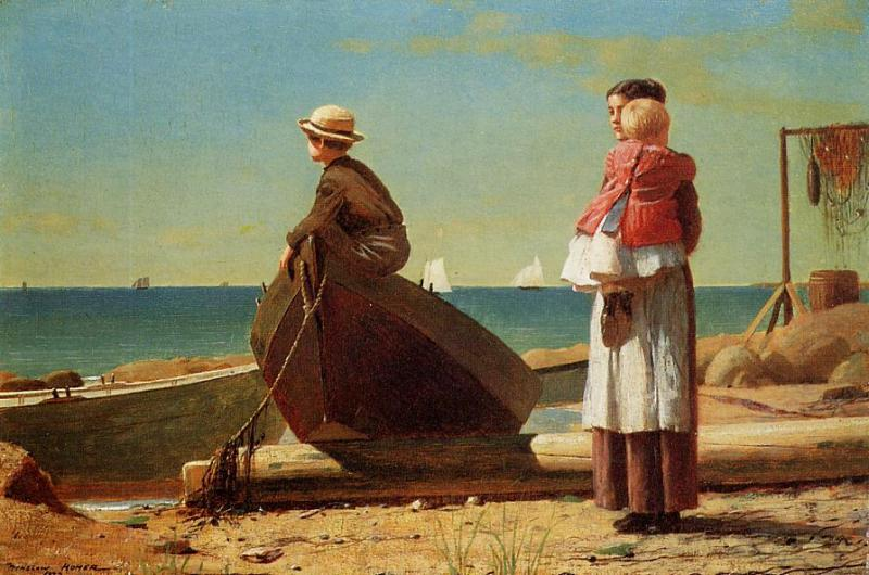 Dads Coming | Winslow Homer | oil painting