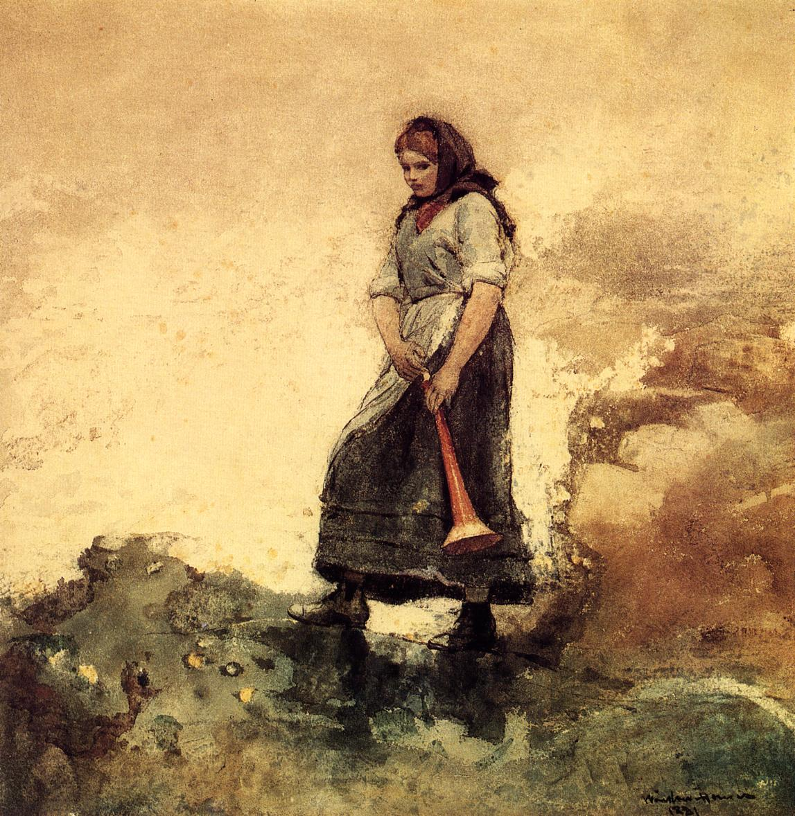 Daughter of the Coast Guard | Winslow Homer | oil painting