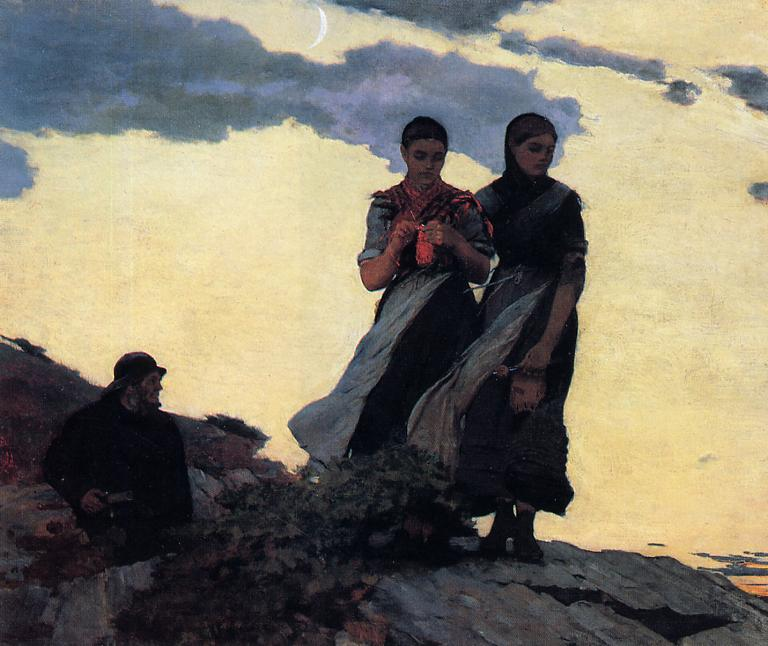 Early Evening   Winslow Homer   oil painting
