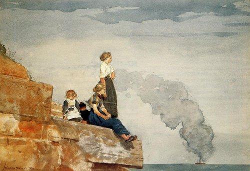 Fishermans Family | Winslow Homer | oil painting