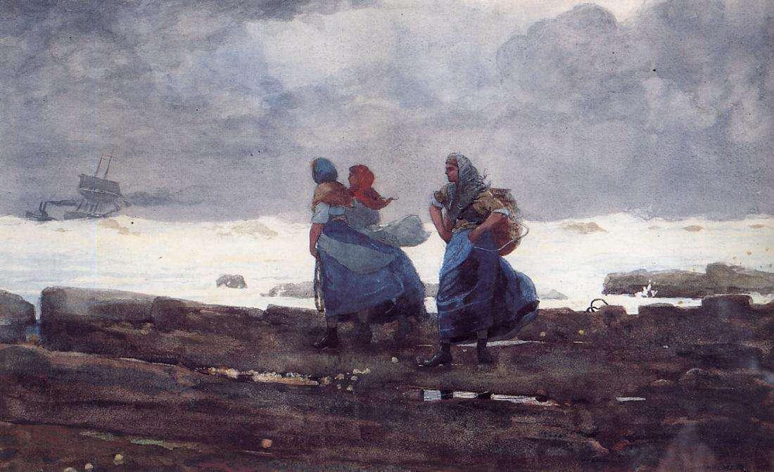 Fisherwives | Winslow Homer | oil painting