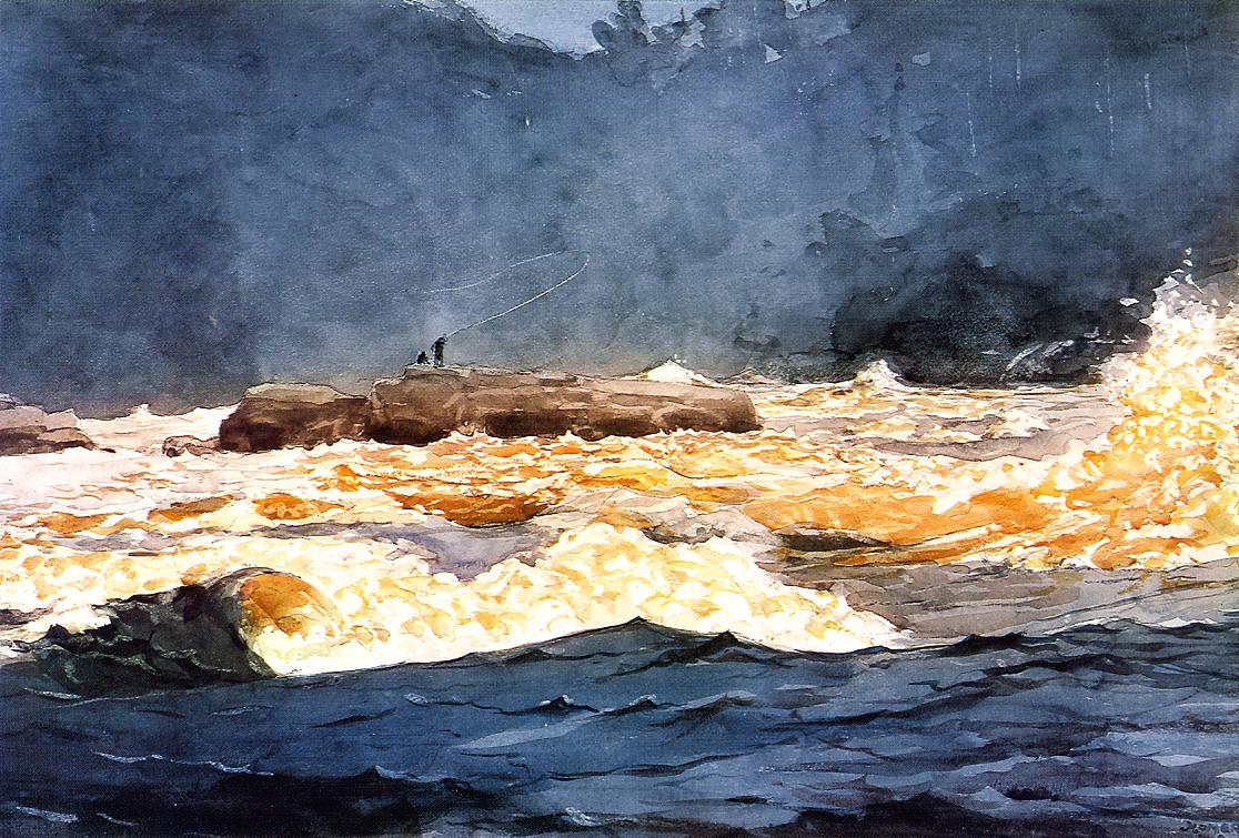 Fishing the Rapids Saguenay | Winslow Homer | oil painting