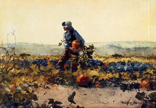 For the Farmers Boy old English Song | Winslow Homer | oil painting