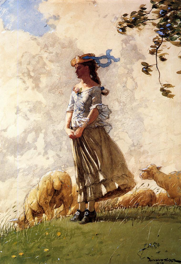 Fresh Air | Winslow Homer | oil painting