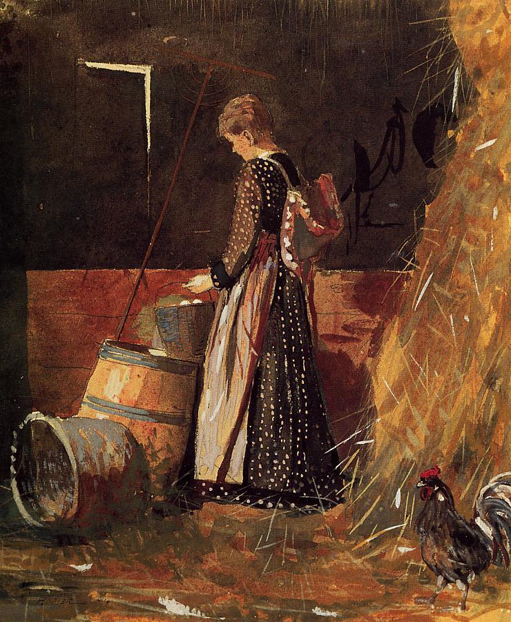 Fresh Eggs | Winslow Homer | oil painting