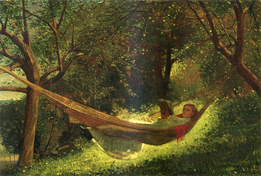 Girl in a Hammock | Winslow Homer | oil painting