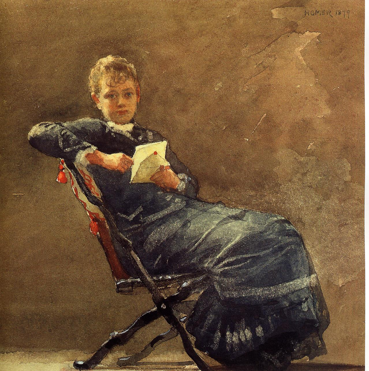 Girl Seated | Winslow Homer | oil painting