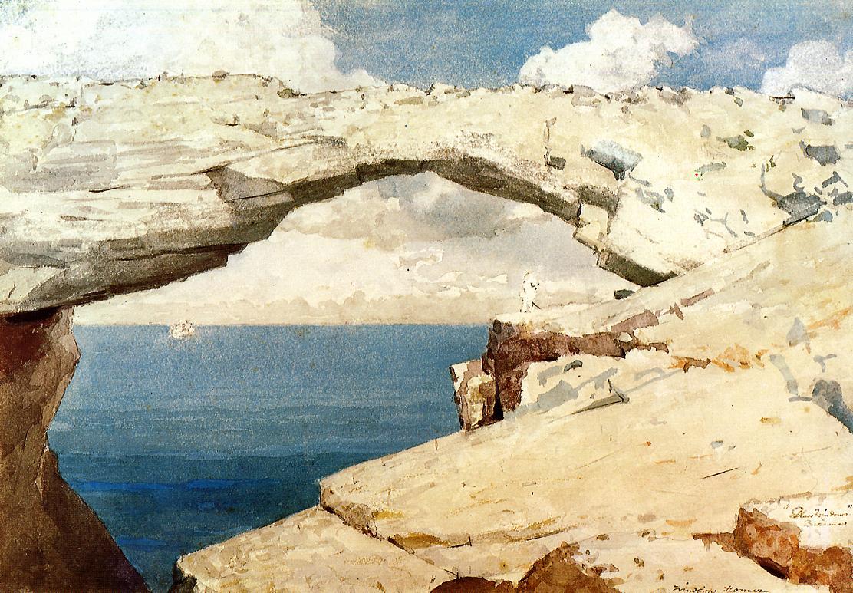 Glass Windows Bahamas | Winslow Homer | oil painting