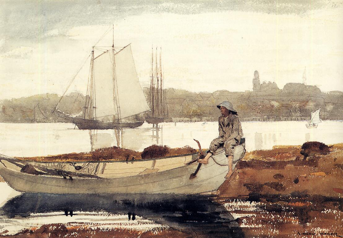 Gloucester Harbor and Dory | Winslow Homer | oil painting