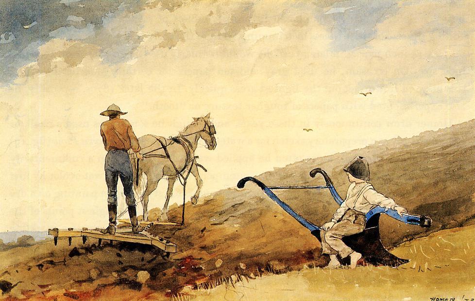 Harrowing | Winslow Homer | oil painting