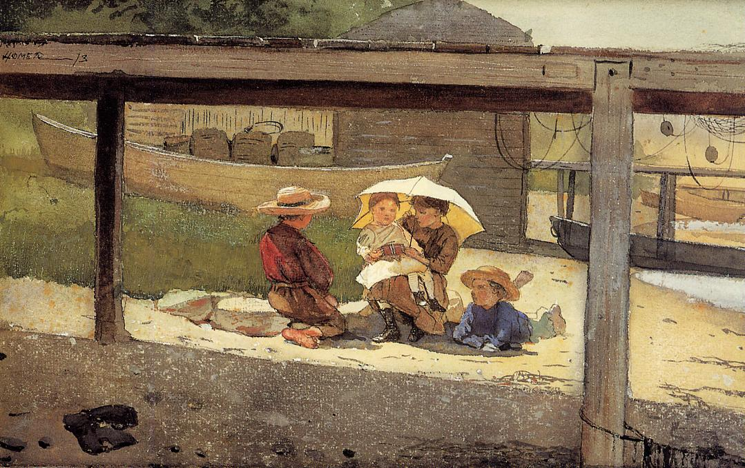 In Charge of Baby | Winslow Homer | oil painting