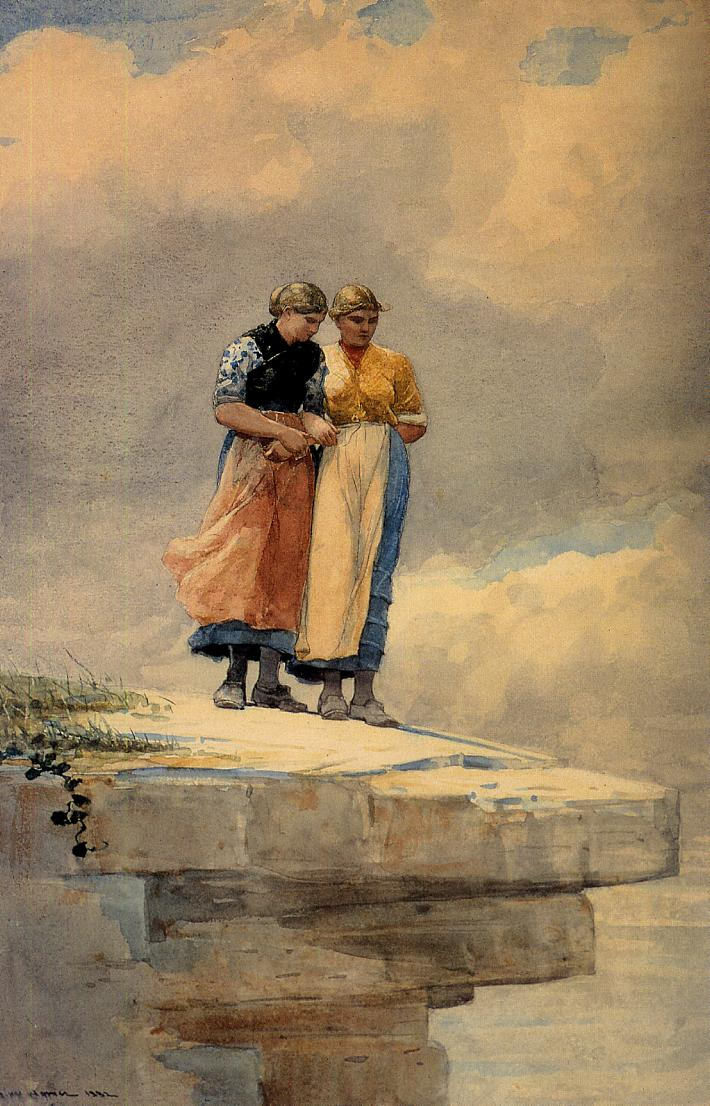 Looking over the Cliff | Winslow Homer | oil painting