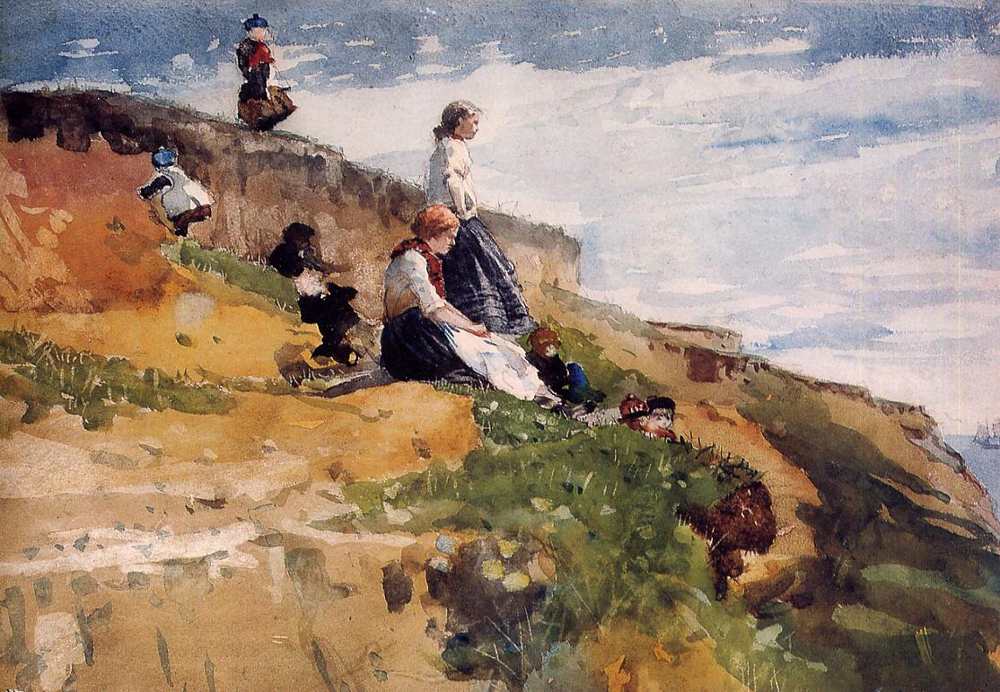 On the Cliff | Winslow Homer | oil painting