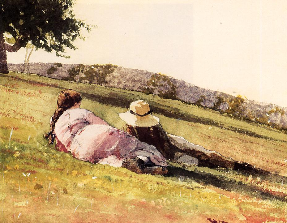 On the Hill | Winslow Homer | oil painting