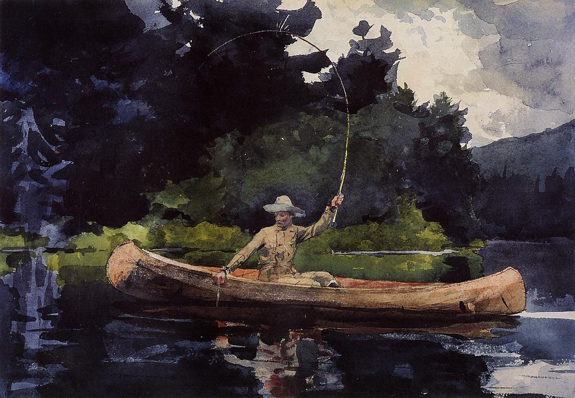 Playing Him | Winslow Homer | oil painting