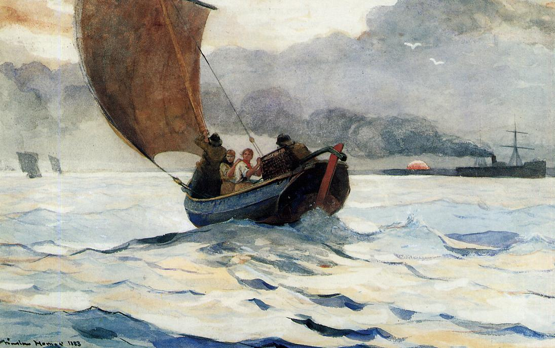 Returning Fishing Boats | Winslow Homer | oil painting