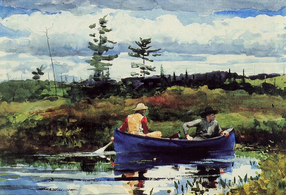 The Blue Boat | Winslow Homer | oil painting