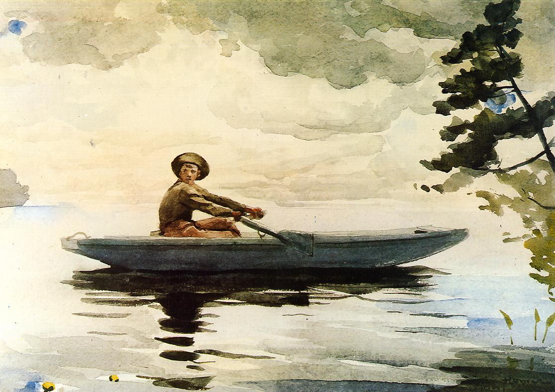 The Boatsman | Winslow Homer | oil painting