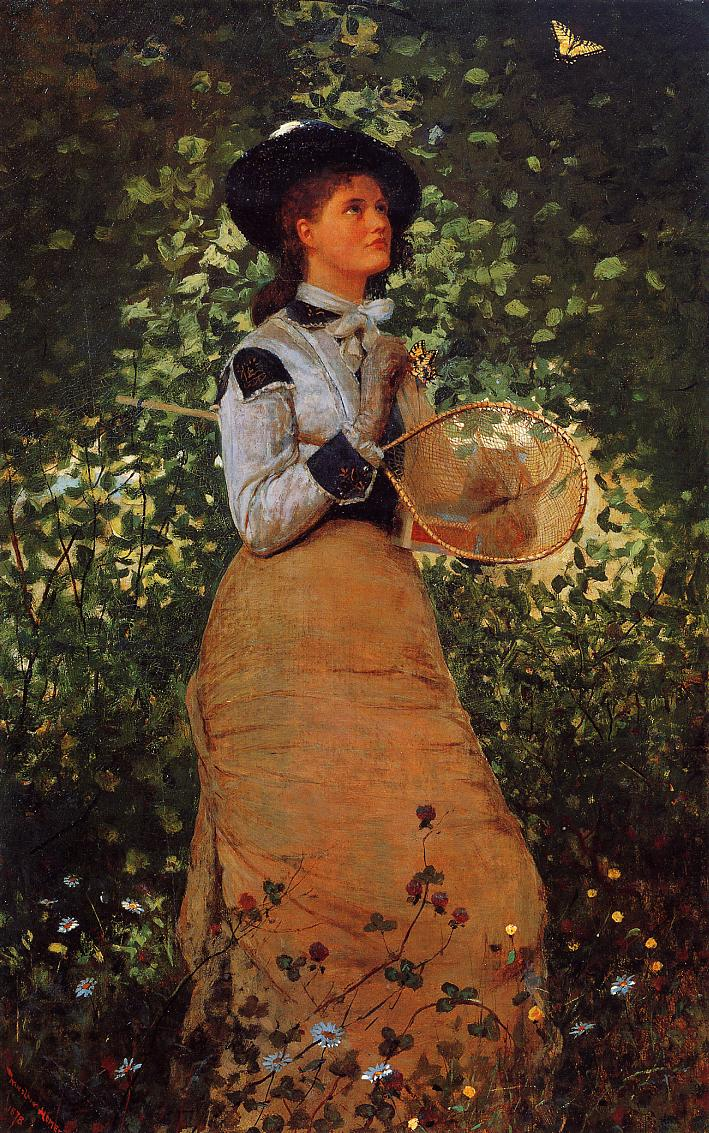 The Butterfly Girl | Winslow Homer | oil painting