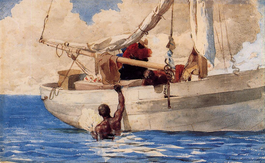 The Coral Divers | Winslow Homer | oil painting