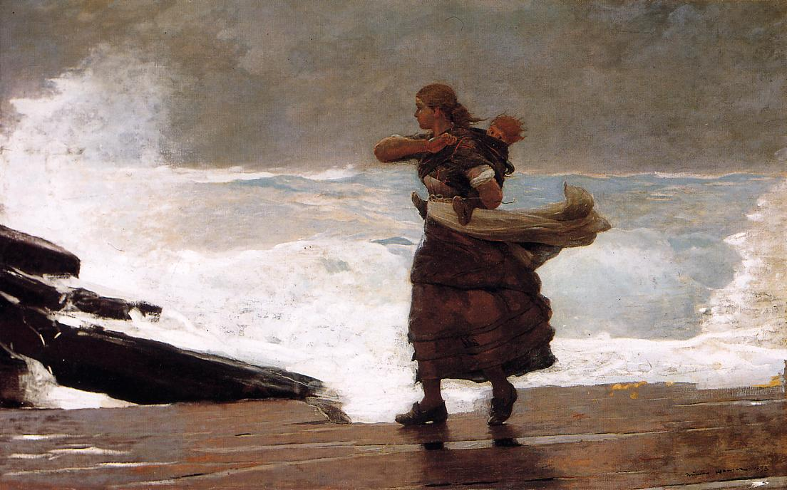 The Gale | Winslow Homer | oil painting
