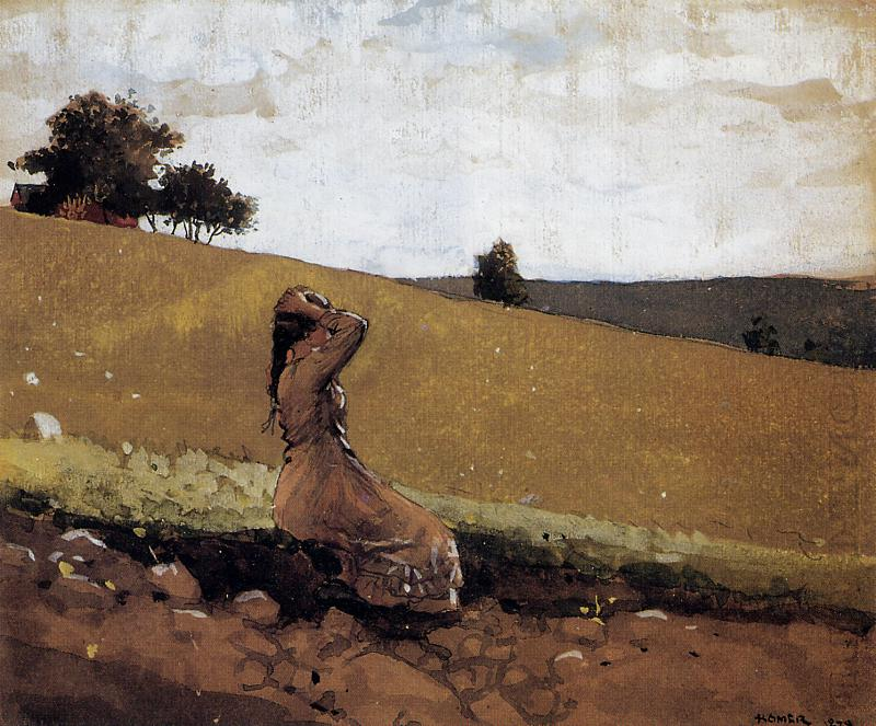 The Green Hill | Winslow Homer | oil painting