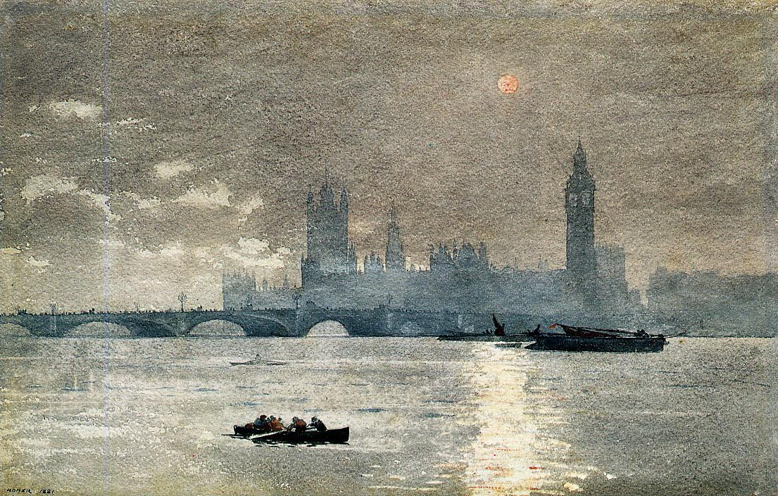 The Houses of Parliament | Winslow Homer | oil painting