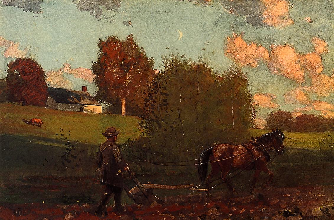 The Last Furrow | Winslow Homer | oil painting