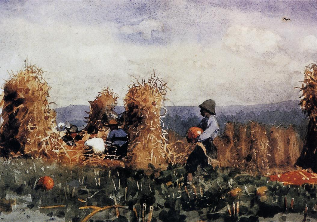 The Pumpkin Patch | Winslow Homer | oil painting