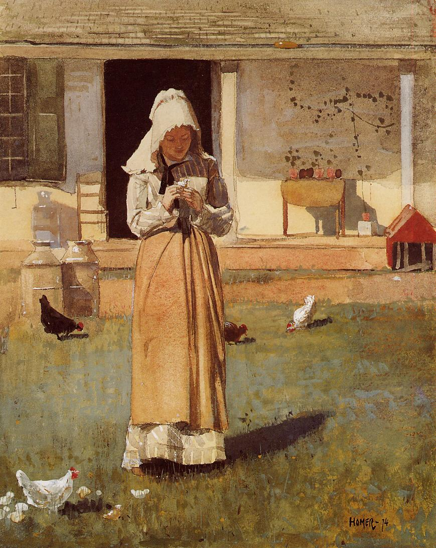 The Sick Chicken | Winslow Homer | oil painting