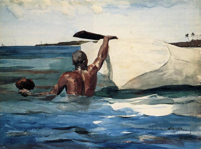 The Sponge Diver | Winslow Homer | oil painting
