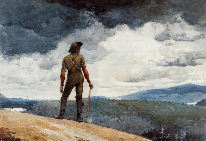 The Woodcutter | Winslow Homer | oil painting